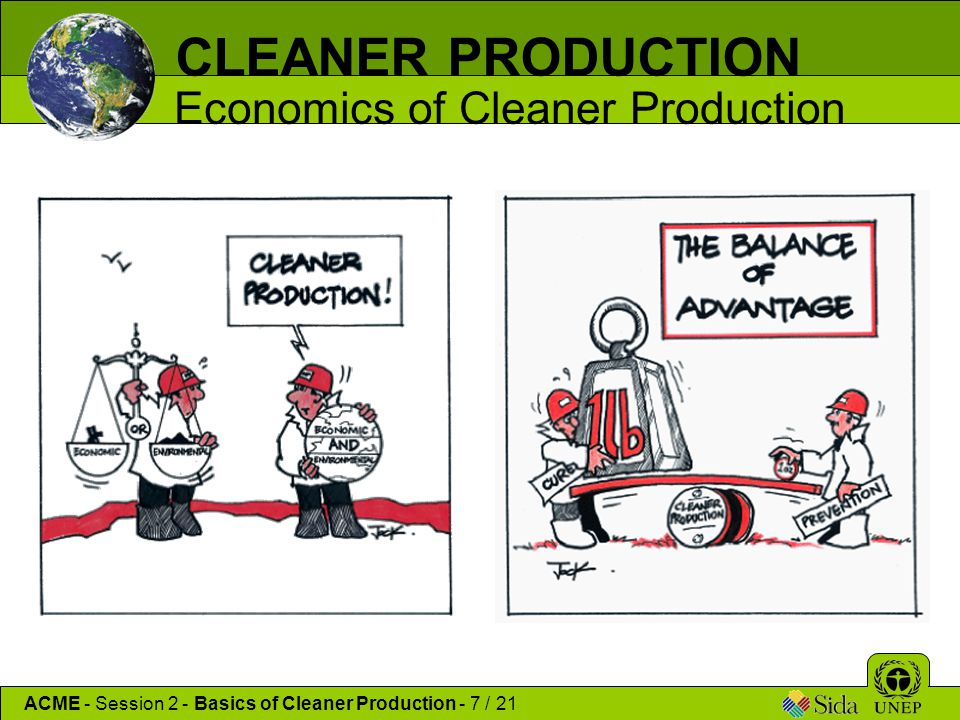 CLEANER PRODUCTION Economics of Cleaner Production