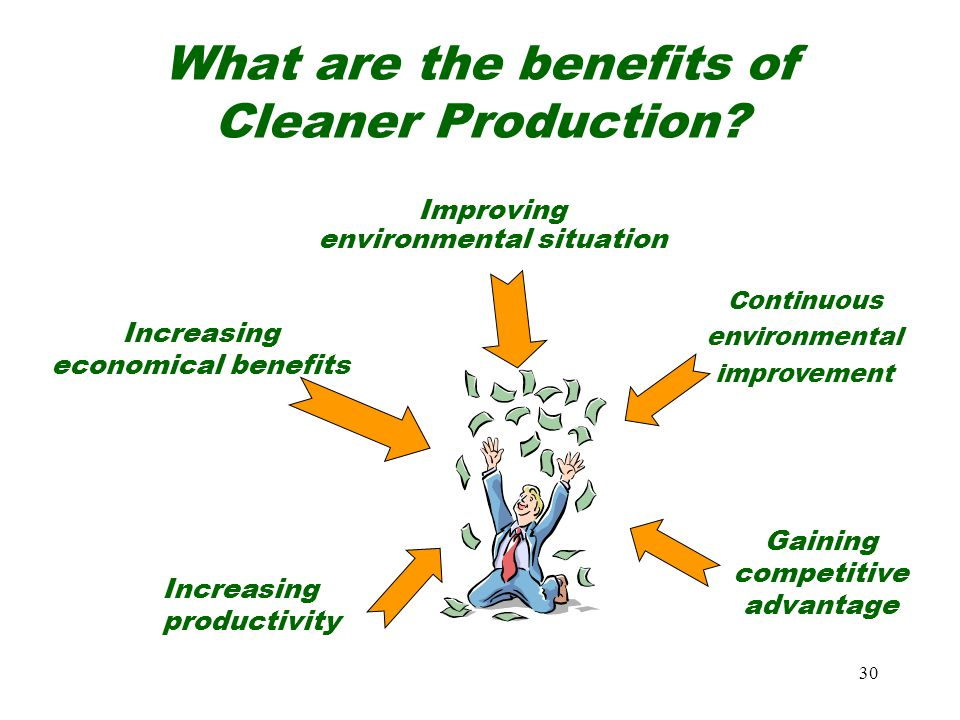 What are the benefits of Cleaner Production
