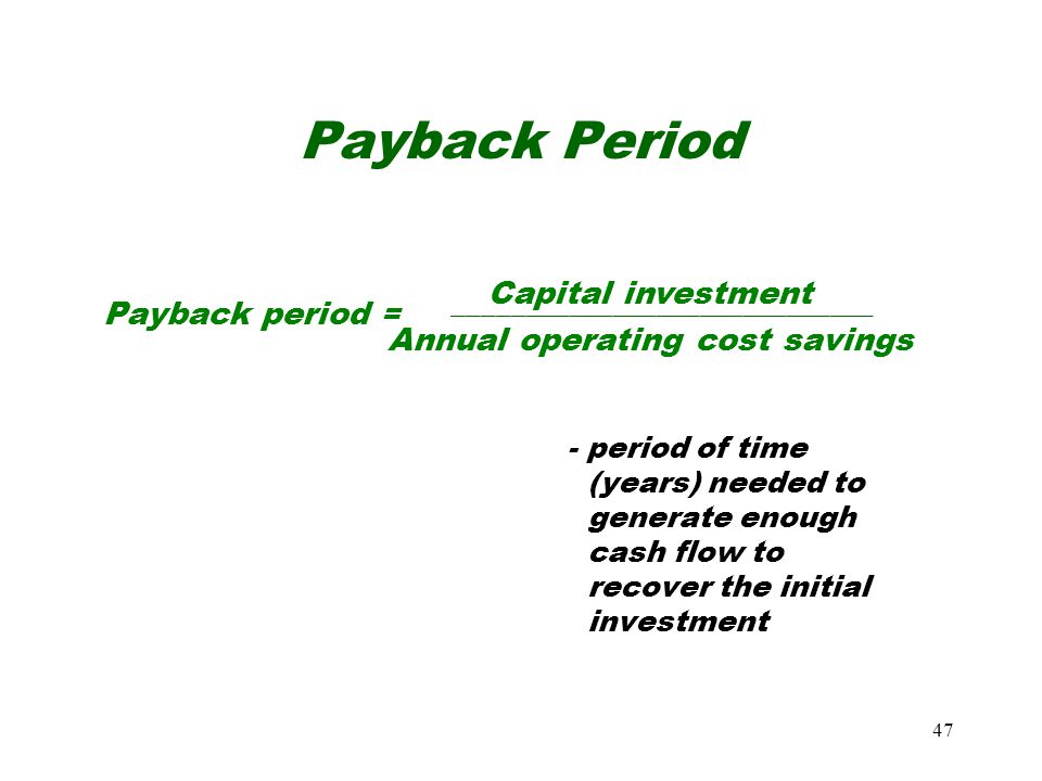 Annual operating cost savings