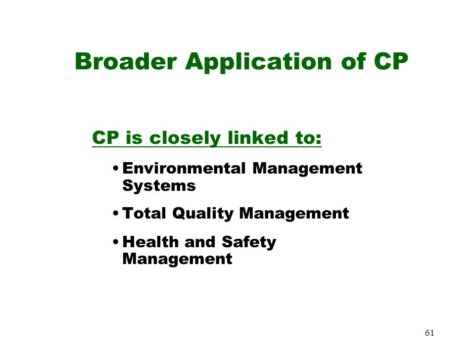 Broader Application of CP