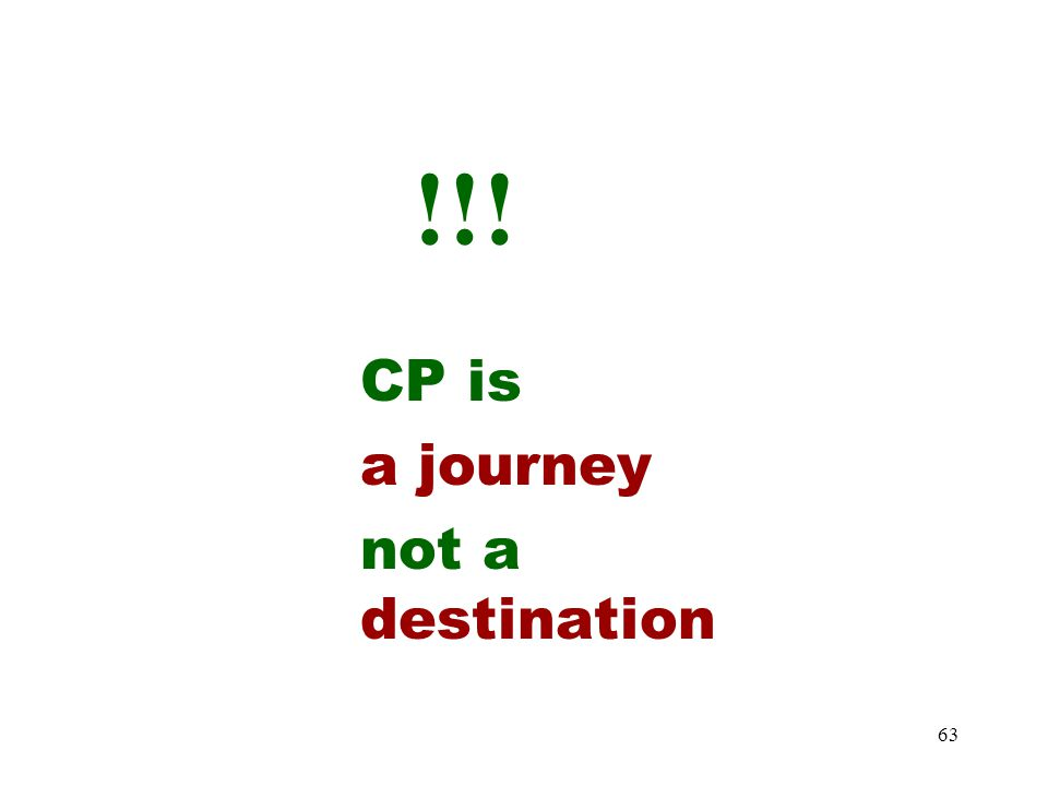 !!! CP is a journey not a destination