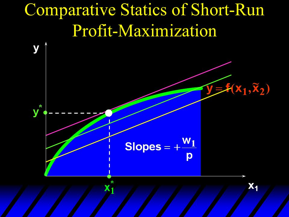 Comparative Statics of Short-Run Profit-Maximization