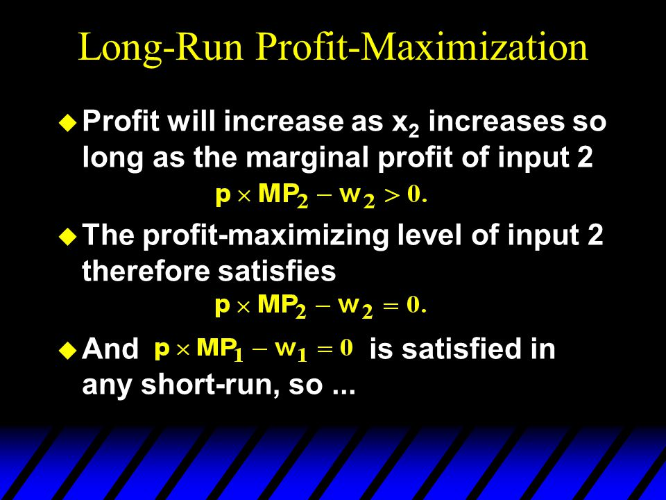 Long-Run Profit-Maximization