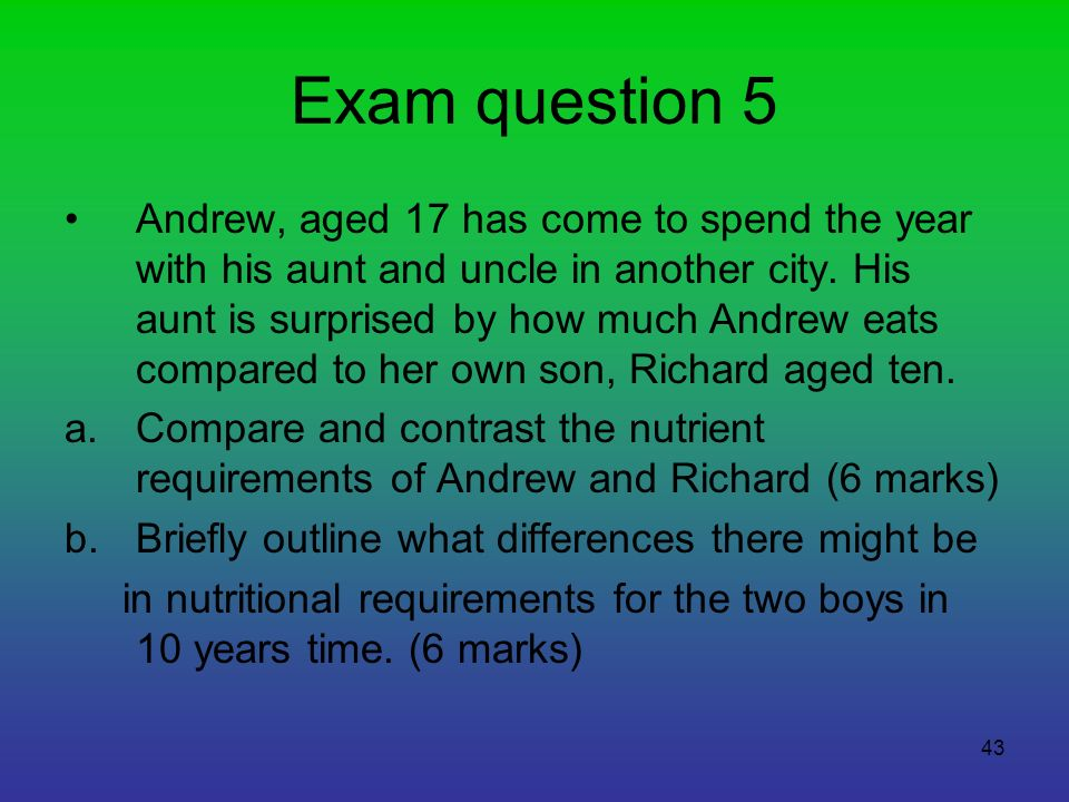 Exam question 5