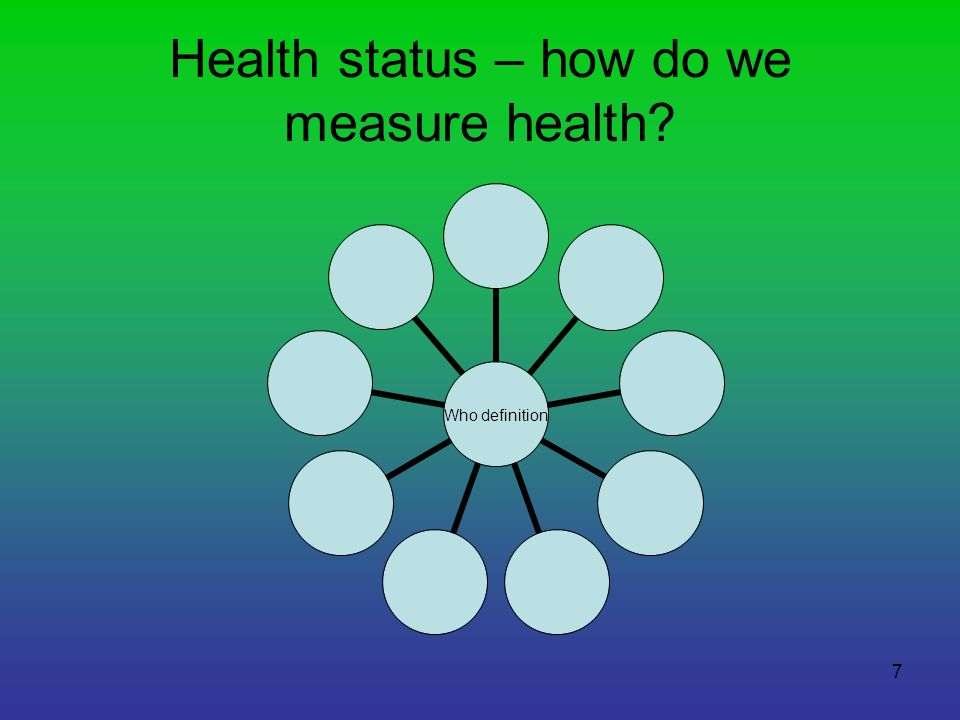 Health status – how do we measure health