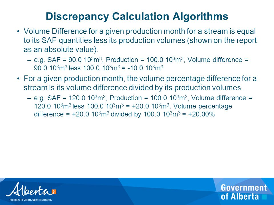Discrepancy Calculation Algorithms