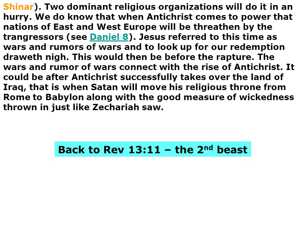 Back to Rev 13:11 – the 2nd beast