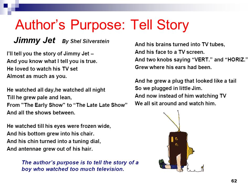 Author's Purpose: Tell Story