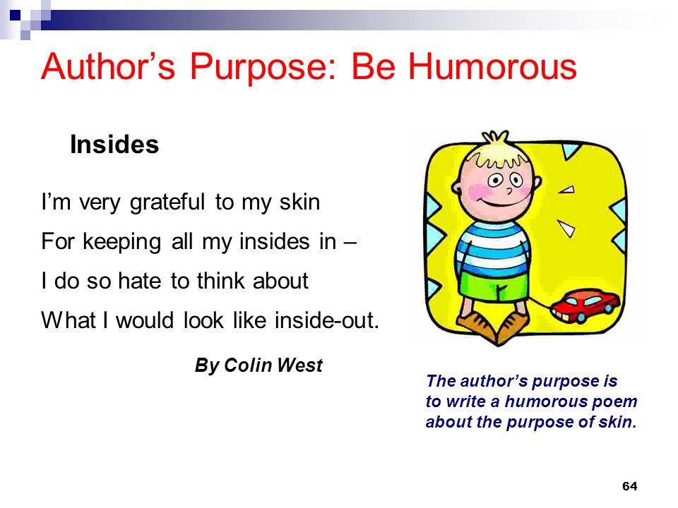 Author's Purpose: Be Humorous