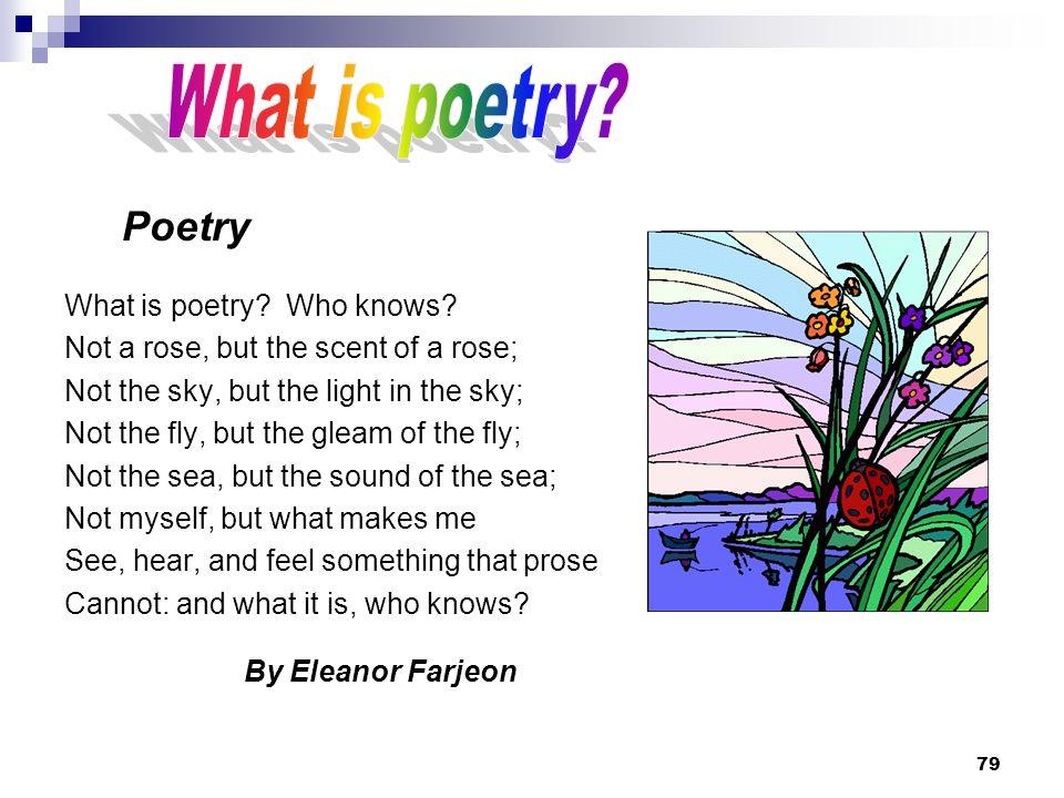 What is poetry Poetry What is poetry Who knows
