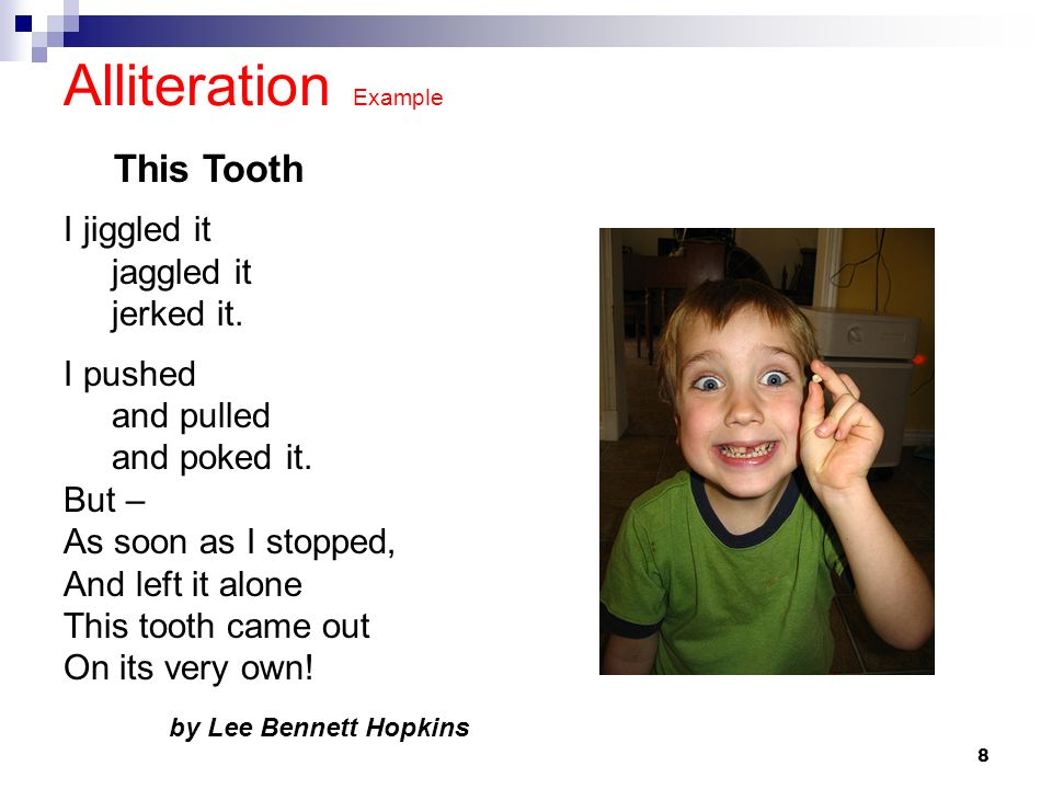 Alliteration Example For Kids Image Collections Example Cover