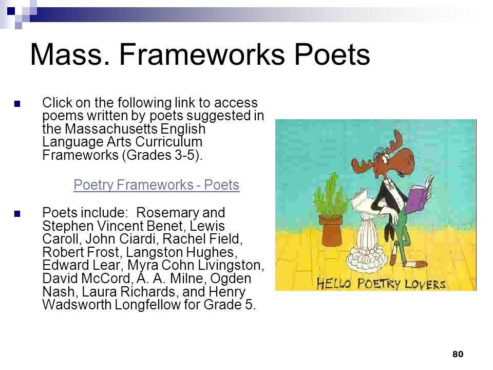 Poetry Frameworks - Poets