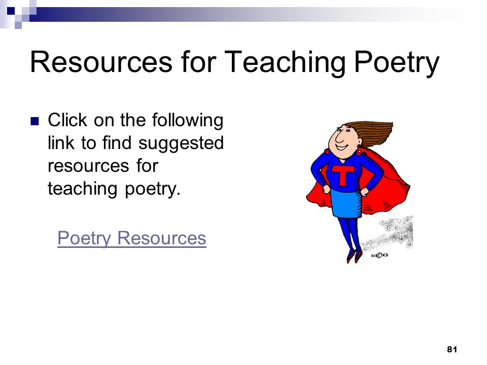 Resources for Teaching Poetry