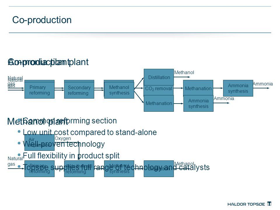 Co-production Ammonia plant Co-production plant Methanol plant