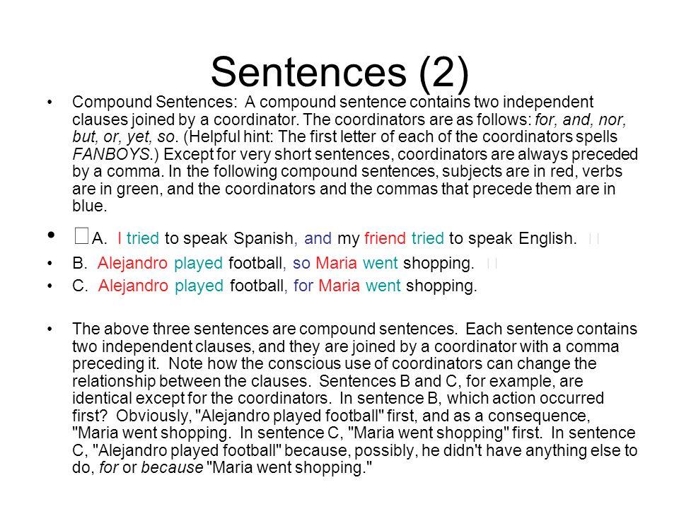 Sentences (2)