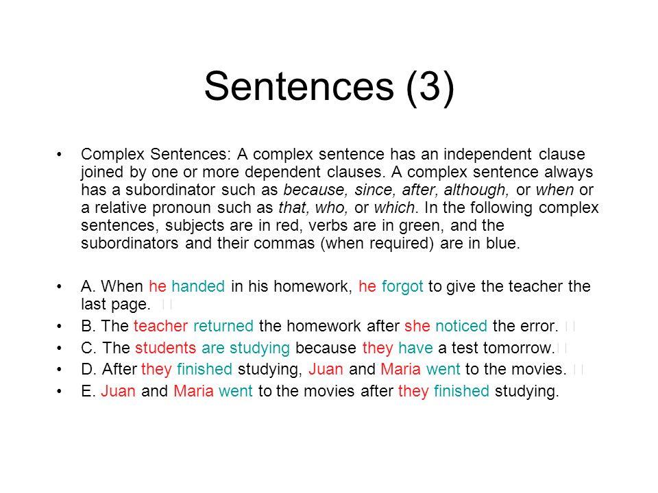 Sentences (3)