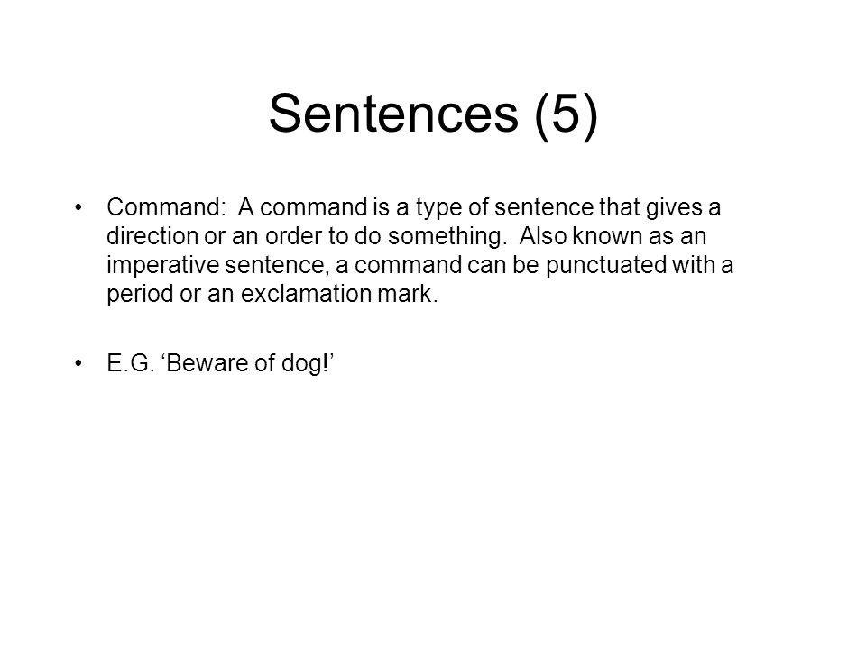 Sentences (5)