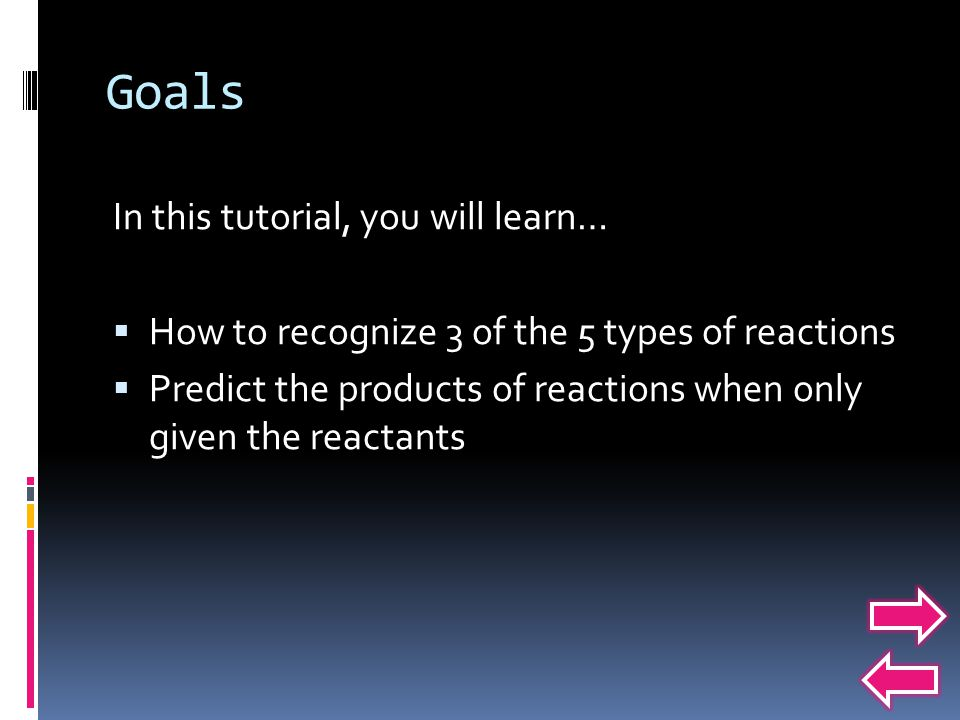 Goals In this tutorial, you will learn…