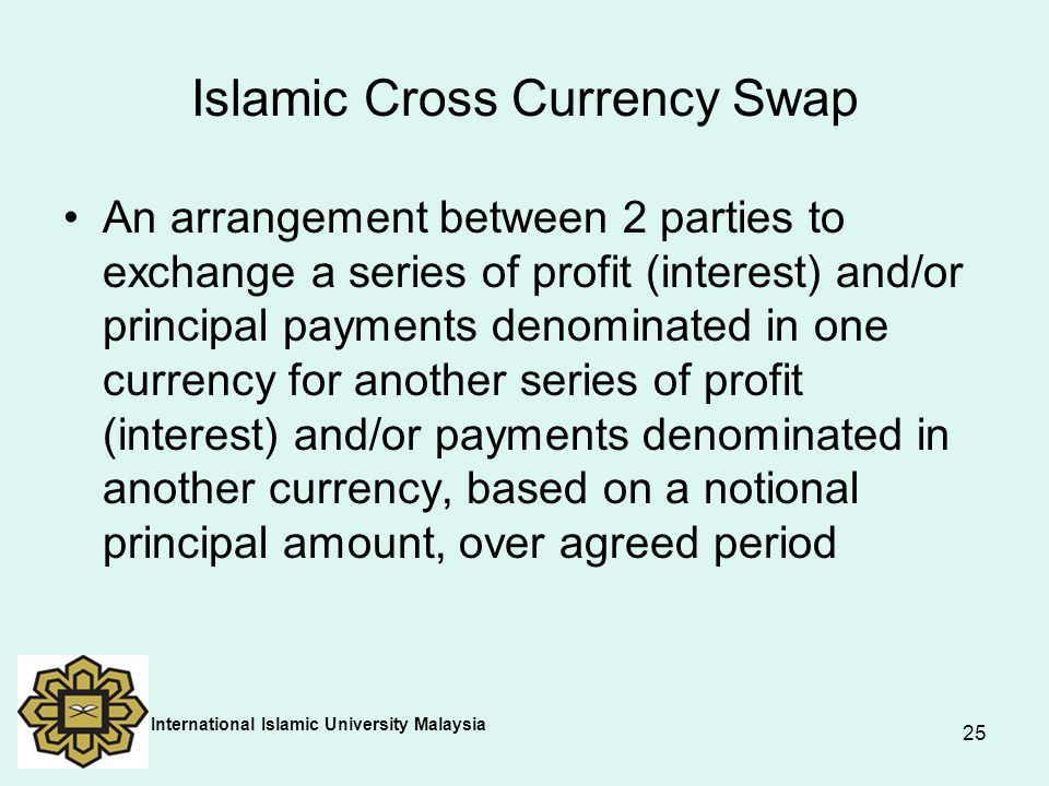 Islamic Cross Currency Swap