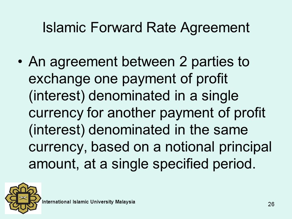 Islamic Forward Rate Agreement
