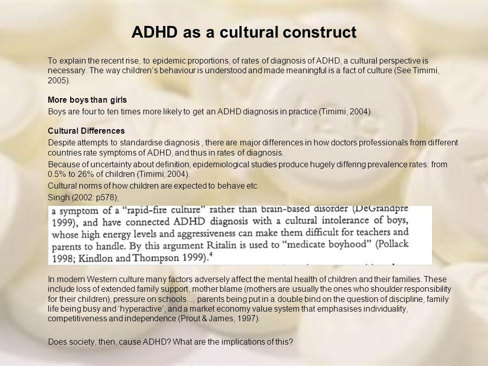 ADHD as a cultural construct