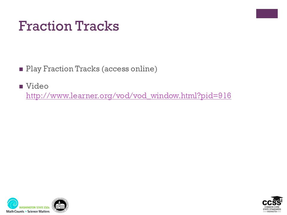 Fraction Tracks Play Fraction Tracks (access online)