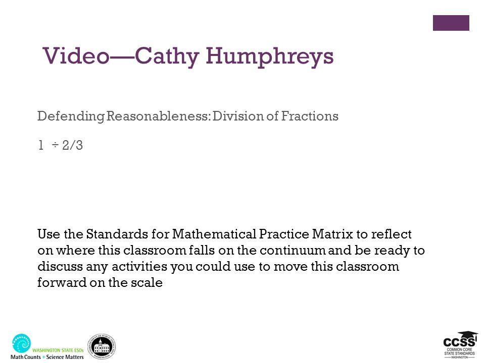 Video—Cathy Humphreys