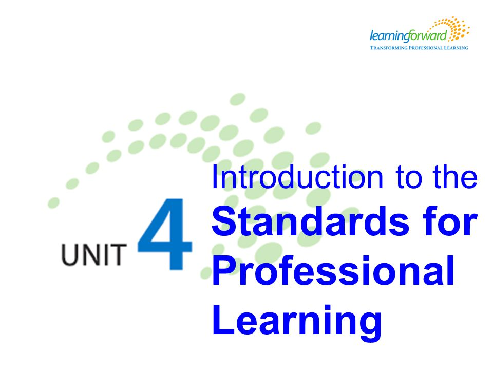 Introduction to the Standards for Professional Learning