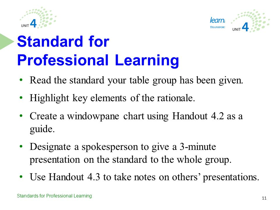 Standard for Professional Learning