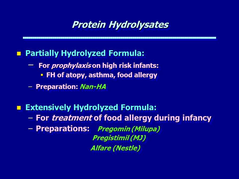 For prophylaxis on high risk infants: