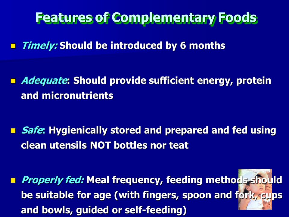 Features of Complementary Foods
