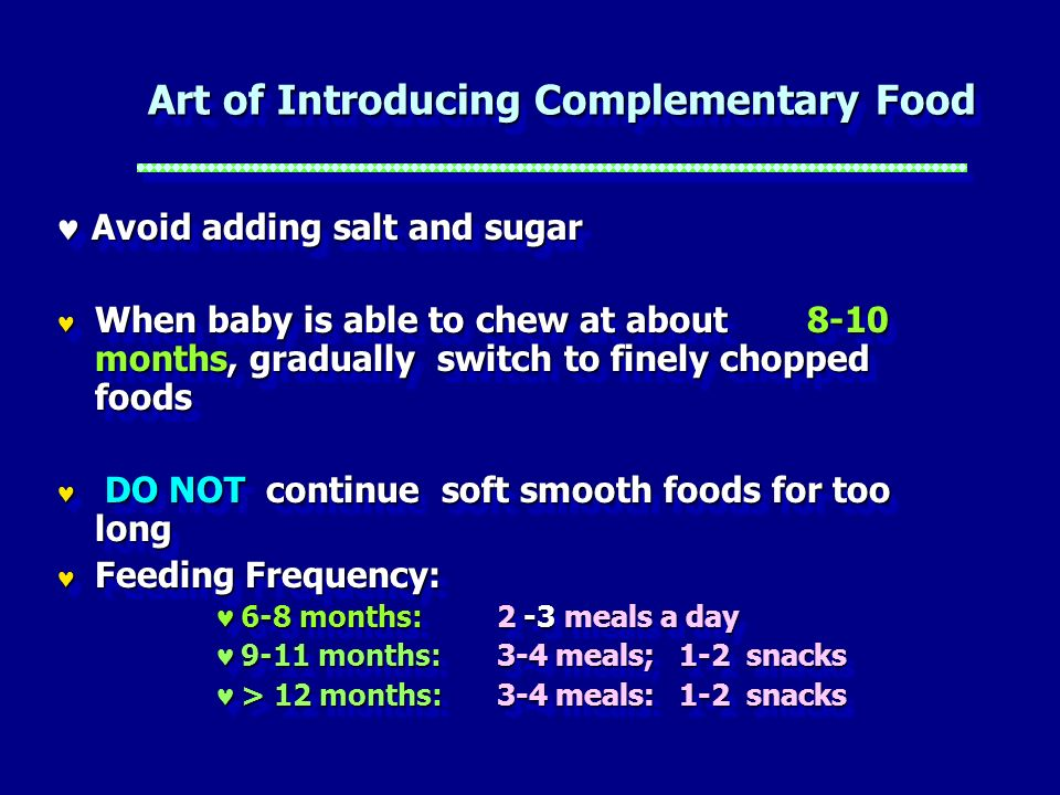 Art of Introducing Complementary Food