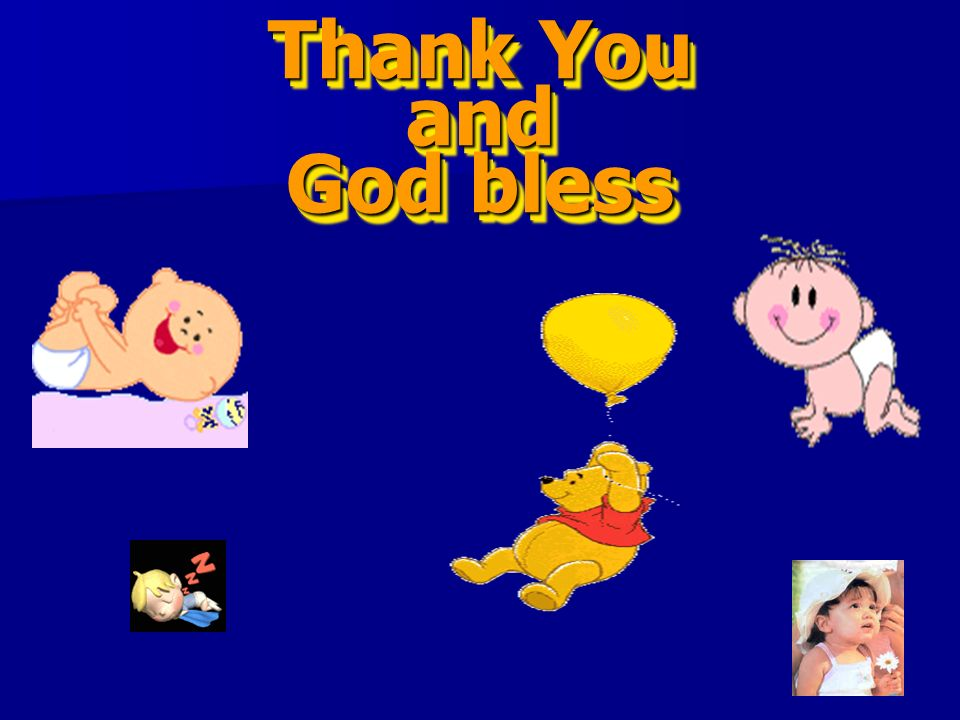 Thank You and God bless
