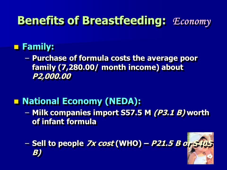 Benefits of Breastfeeding: Economy