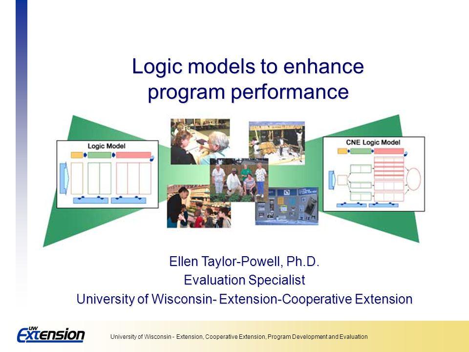 Logic models to enhance program performance