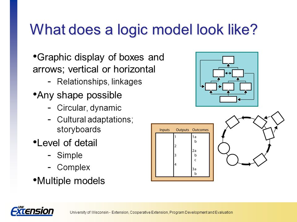 What does a logic model look like