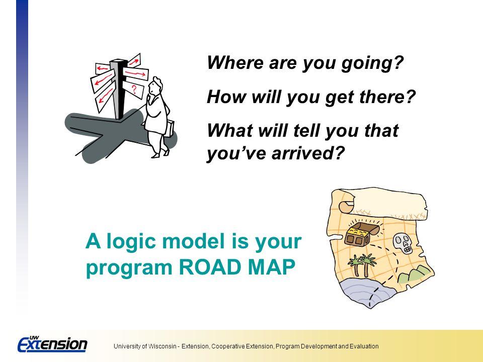 A logic model is your program ROAD MAP