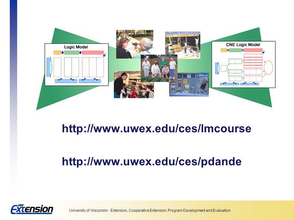 http://www.uwex.edu/ces/lmcourse http://www.uwex.edu/ces/pdande