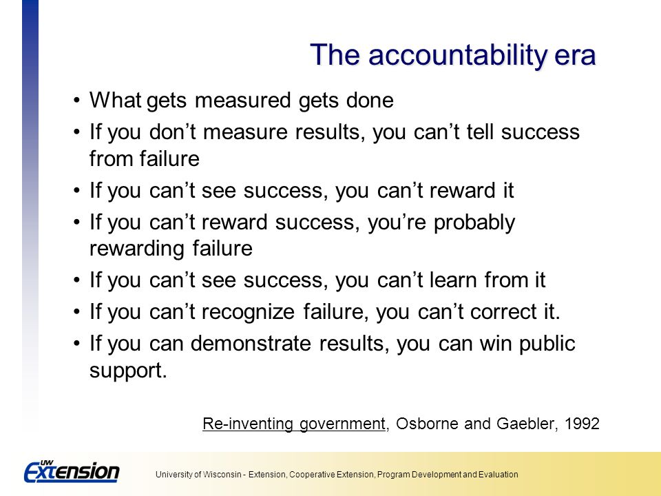 The accountability era