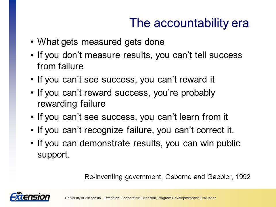 The accountability era