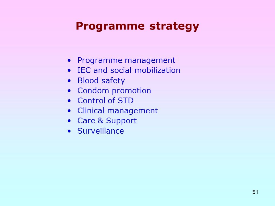 Programme strategy Programme management IEC and social mobilization