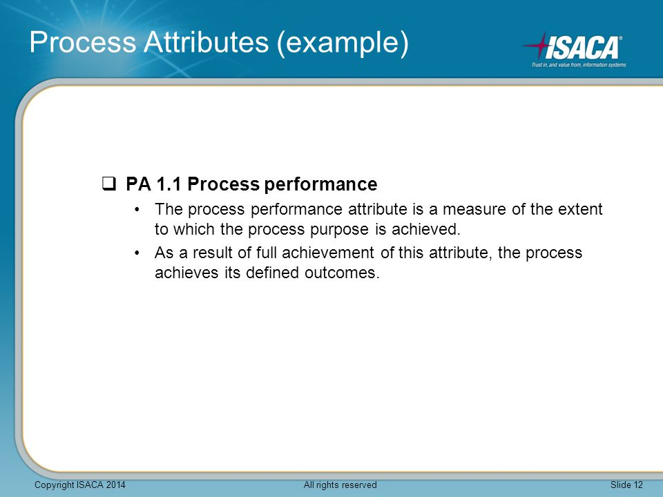 Process Attributes (example)