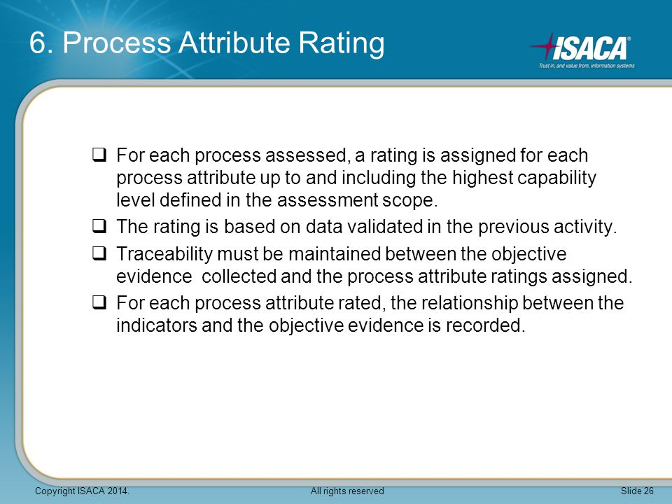 6. Process Attribute Rating