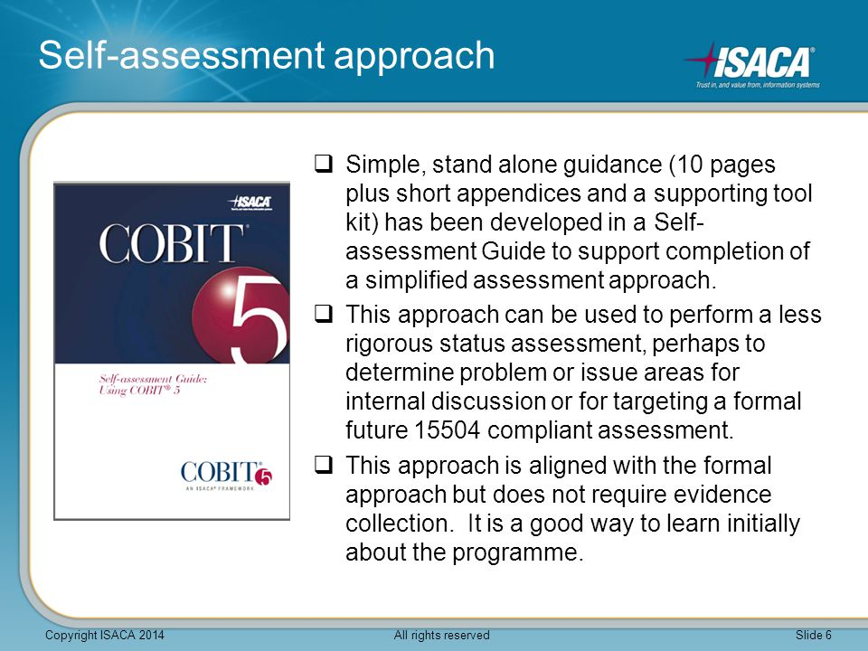 Self-assessment approach
