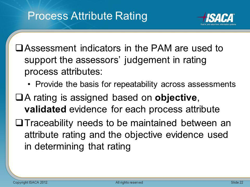 Process Attribute Rating