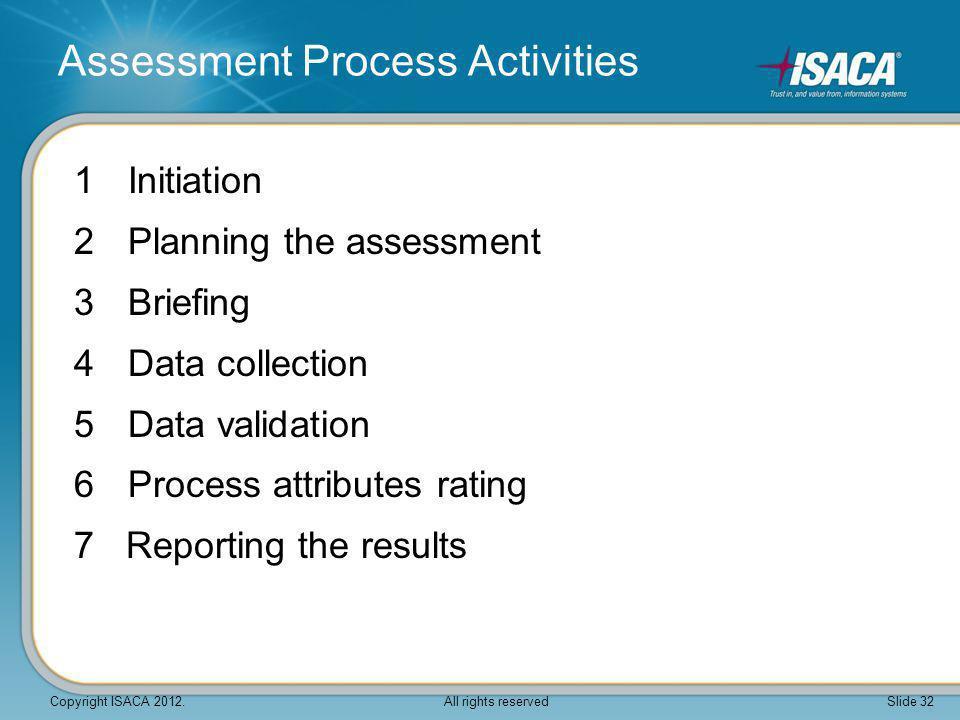 Assessment Process Activities
