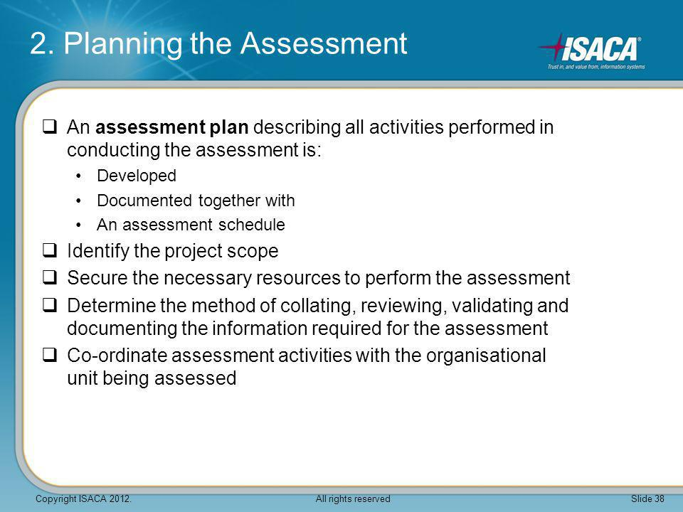 2. Planning the Assessment