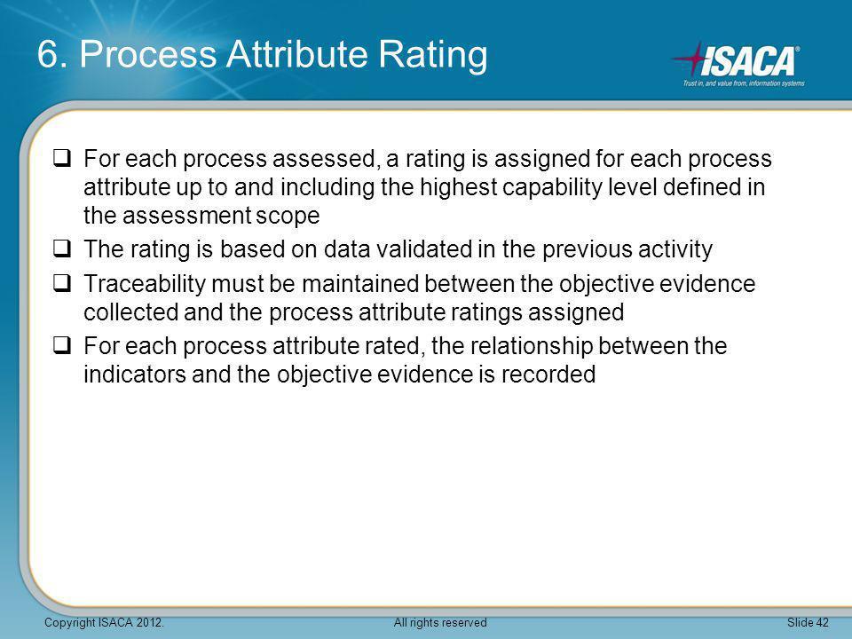6. Process Attribute Rating