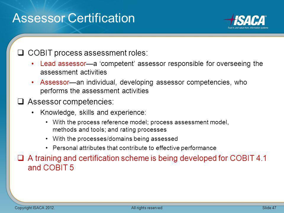 Assessor Certification