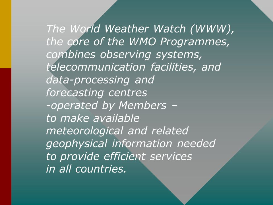 The World Weather Watch (WWW),